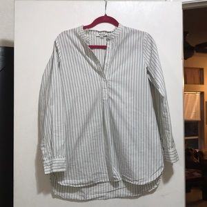 Madewell half button down blouse